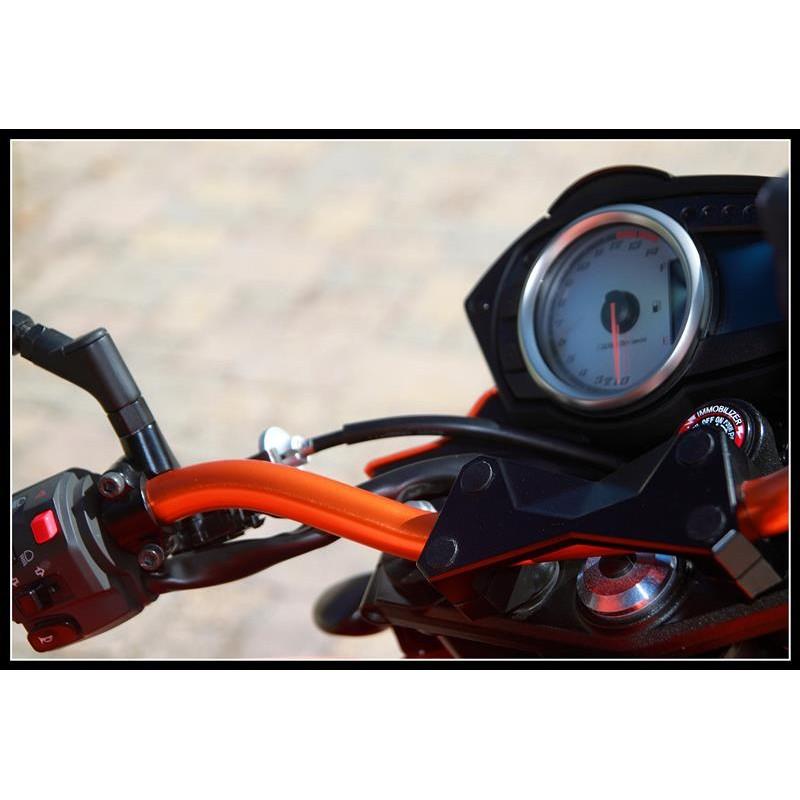 Manubrio SRT ergal Rosso 22 piega media Manopole SRT Motoguzzi
