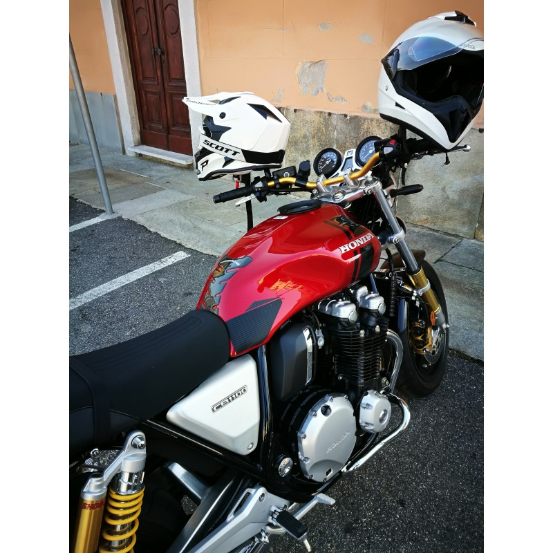 Manubrio SRT ergal Oro 22 piega media Manopole SRT Honda CB 1000 R