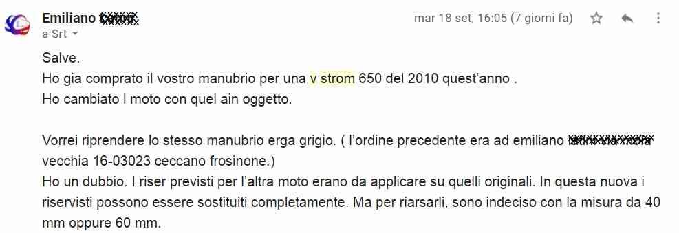 feedback manubrio